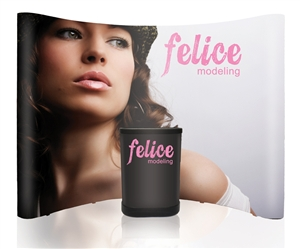 10 ft Pop Up Display PVC - Kiosque Pop Up de 10' en PVC