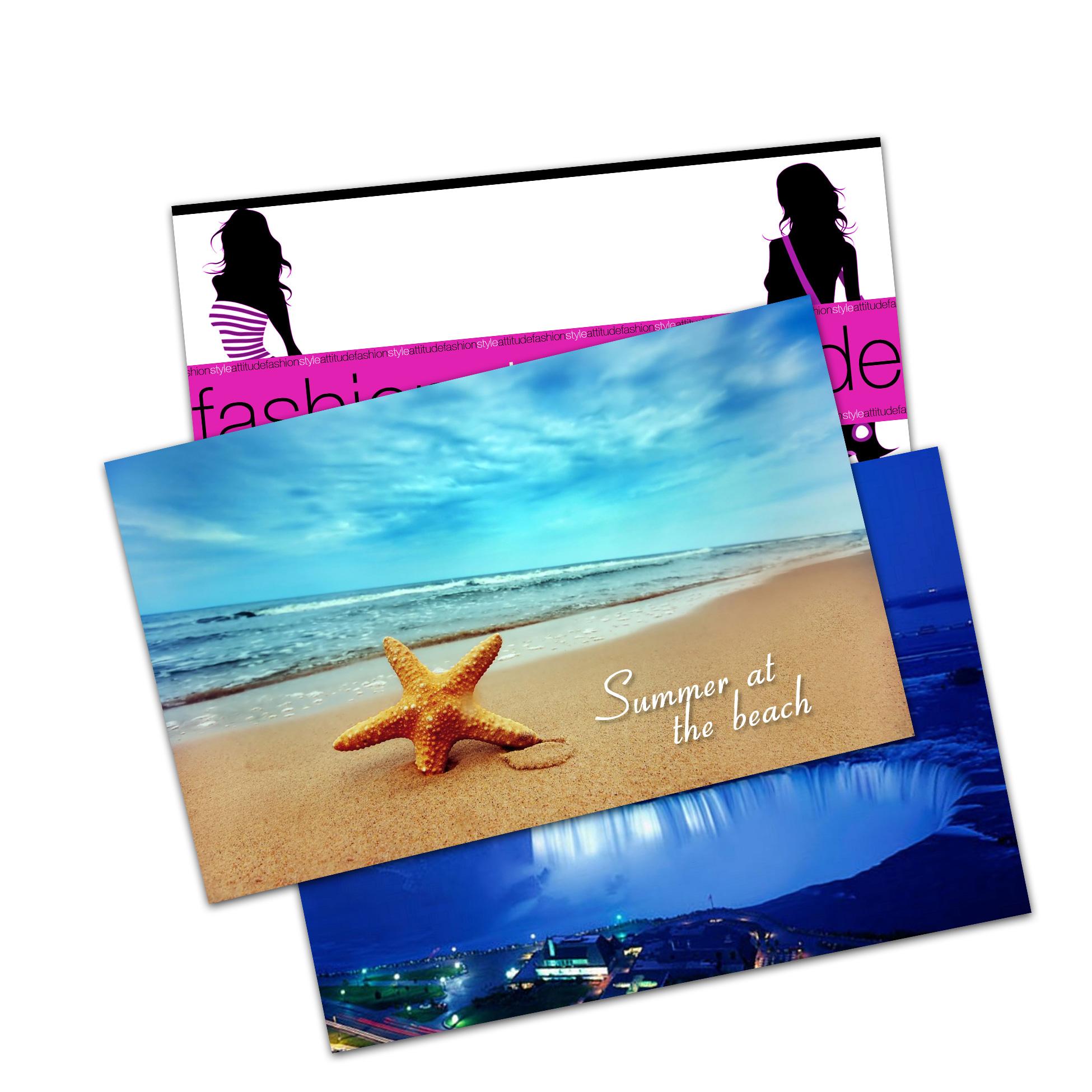 Postcards (Coated 2 sides) - Cartes Postales (couchées 2 côtés)